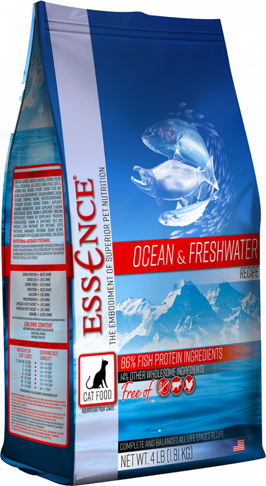 Details about Essence Grain Ocean & Freshwater Cat Food in