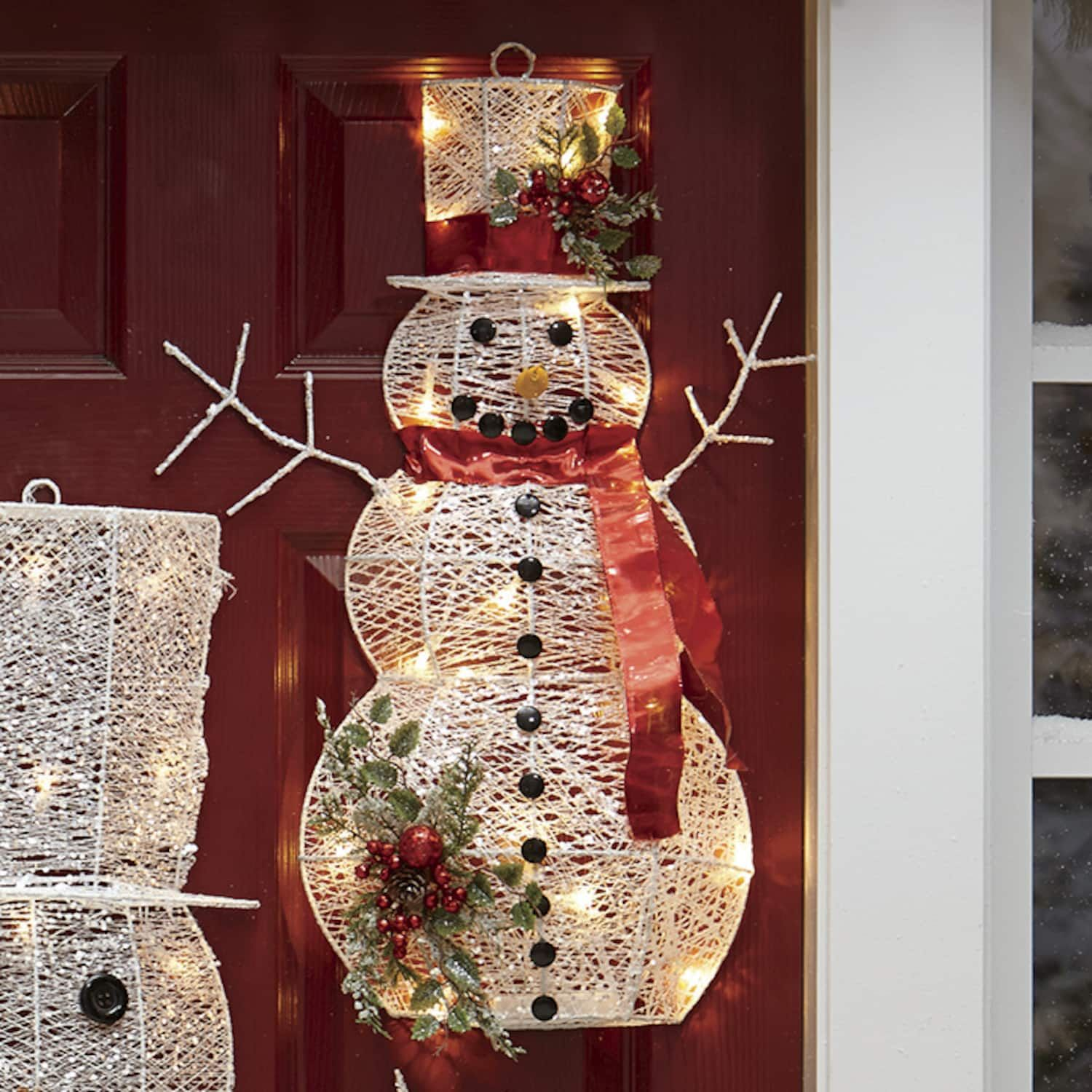 Small Snowman Lit Wall Decor Montgomery Ward Snowman Christmas Decorations Snowman Decorations Snowman Outdoor Decorations