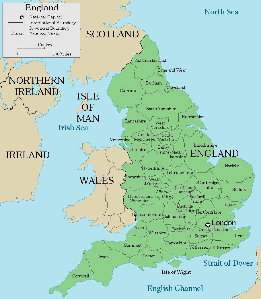 Cartina Geografica Politica Inghilterra.Mappa Inghilterra Cartina Della Inghilterra Inghilterra Uk Geografia Economica Cornovaglia Inghilterra