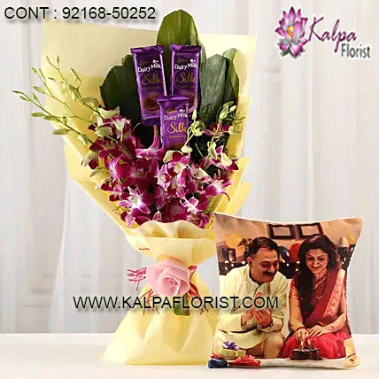 Dairy Milk & Orchids With Personalised Cushion ( New Year ...