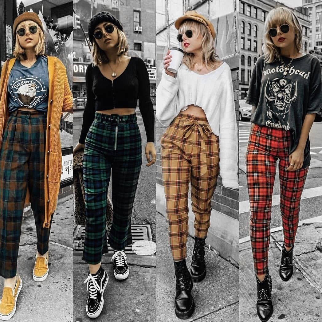 Where can I find plaid pants like these? | Retro outfits, Cool outfits,  Cute outfits