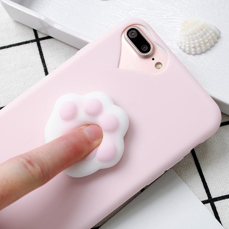 size 40 4195f 2e0e1 Pretty light pink iPhone case with a cute squishy paw on the back to ...