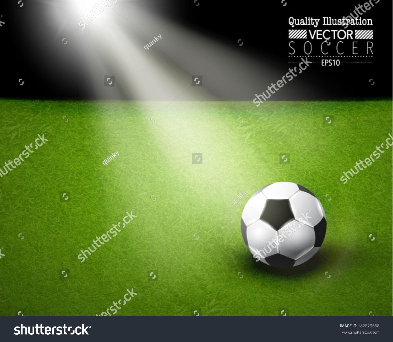 Creative Soccer Vector Design Ad Sponsored Soccer Creative Design Vector In 2020 Soccer Field Vector Illustration Soccer Ball