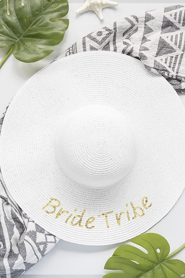 bridal shower themes without gifts%0A Gold Sequin Bride Tribe Sun Hat   David u    s Bridal   bridesmaid gift ideas   bachelorette party