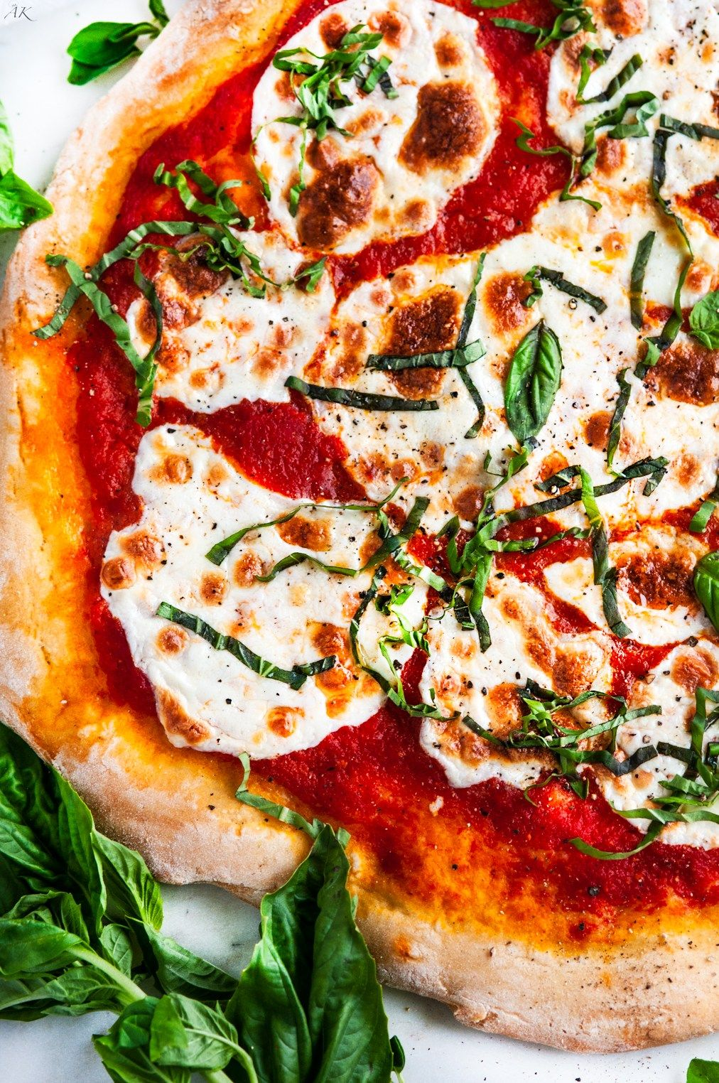 Margherita Pizza With Homemade Crust Recept Eda Vkusnaya Eda Picca