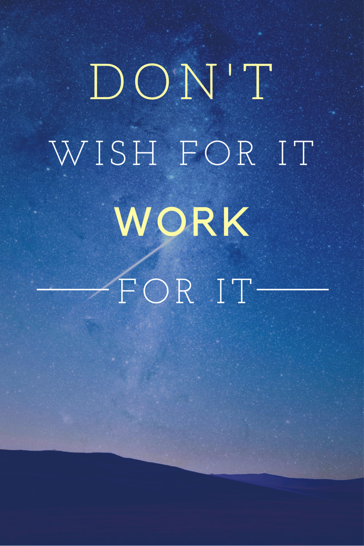 motivation quote fitness Donu0027t wish for it