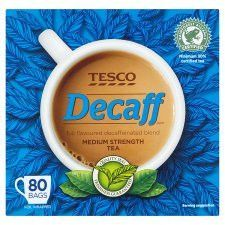 Tesco Decaffeinated 80 Tea Bags 250g