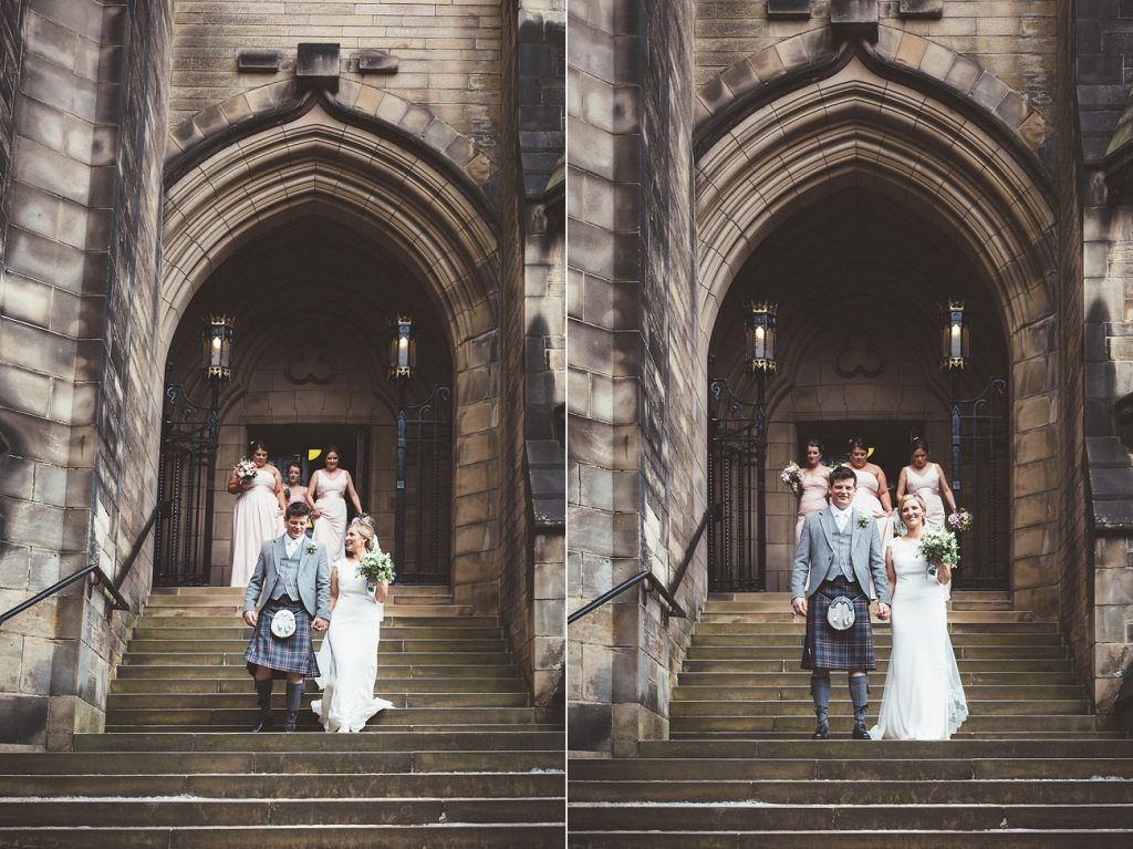Glasgow wedding photography Glasgow University Chapel and