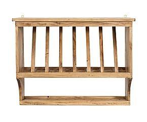 Piattaia in legno di tiglio Martina naturale - 80x60x28 cm ...