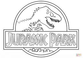 Click the Jurassic Park Logo coloring ... (With images ...