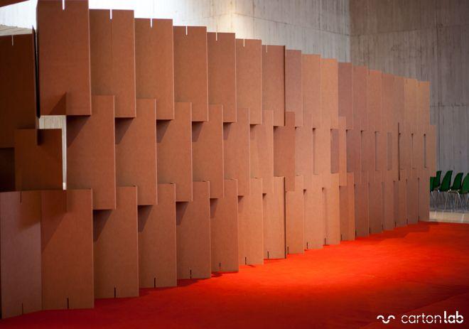 Yacimiento de minateda exhibition designs cardboard - Biombo de carton ...