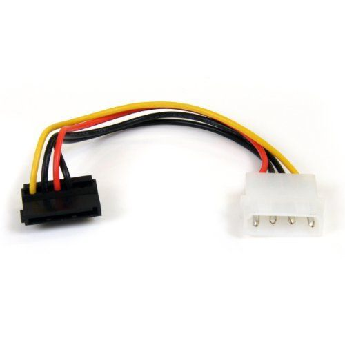 Startech Com Satapowadapr 6 Inch 4 Pin Molex To Right Angle Sata Power Cable Adapter By Startec Computer Power Supplies Power Cable Electronic Cables