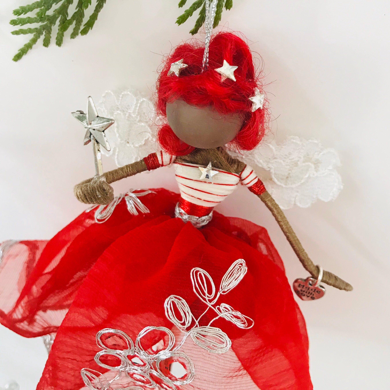 Christmas Fairy Ornament | Flower fairies, Christmas fairy ...