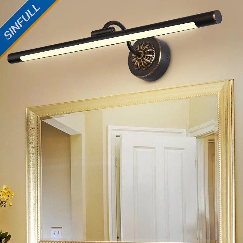 american black copper led mirror light bathroom cabinet lamp rh pinterest com