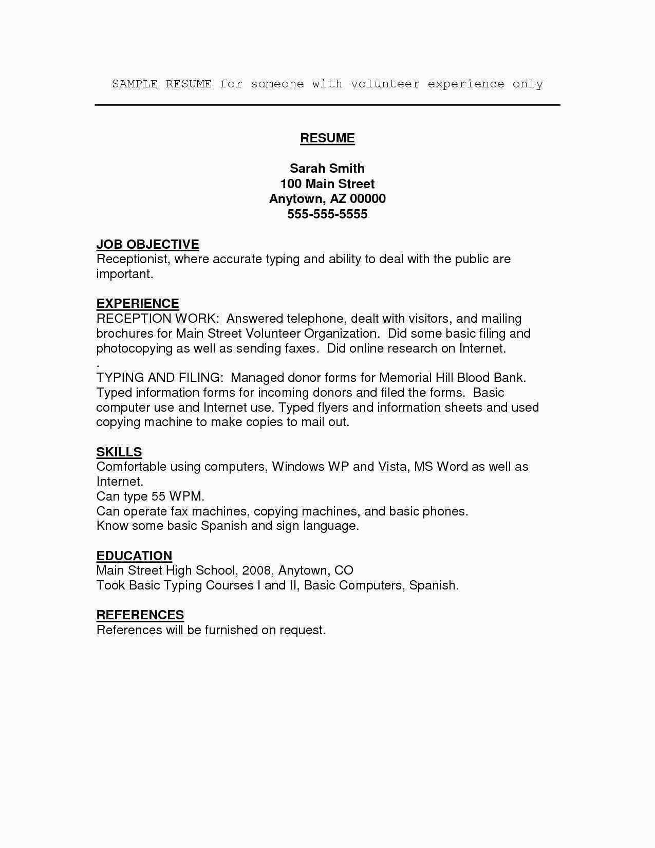 70 Luxury Photos Of Sample Resume for High School Student