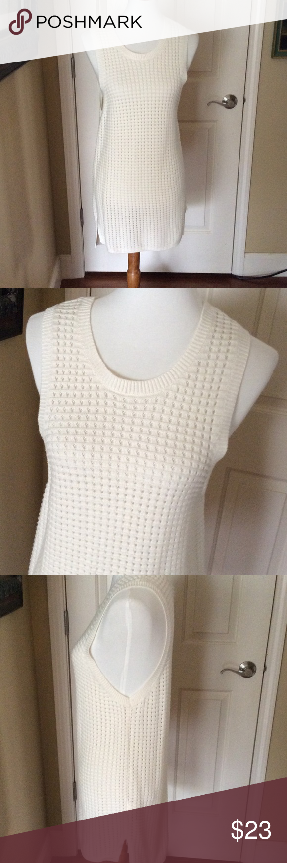 Banana Republic Long Sweater Vest Tunic | D, Vests and Cream