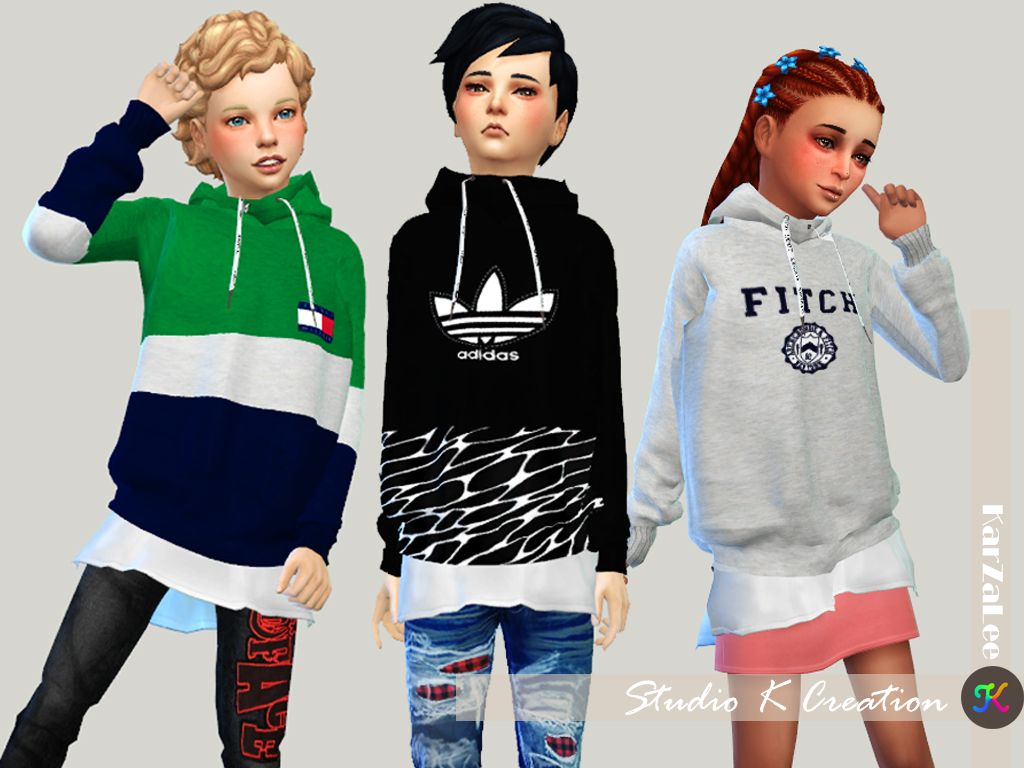 831310cc9a Giruto 46 hoodie Sweater-child | The Sims 4 CC Clothing Toddler/Kids ...