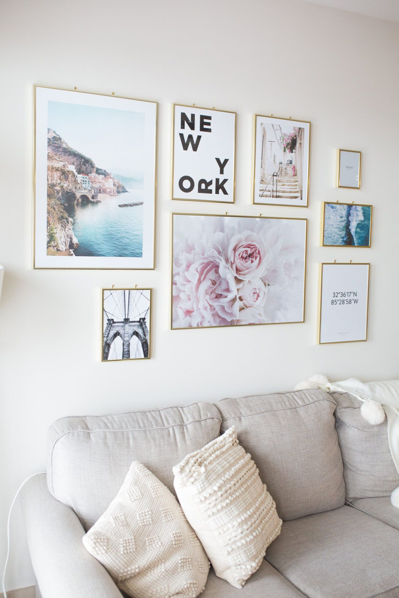 How To Style A Gallery Wall Small Space Inspiration Goodtomicha Gallery Wall Bedroom Wall Decor Bedroom Simple Gallery Wall