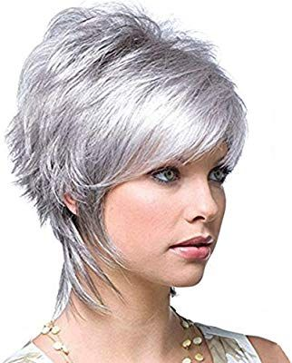 Grey Wigs for Women Short Silver Hair Wigs for Whi