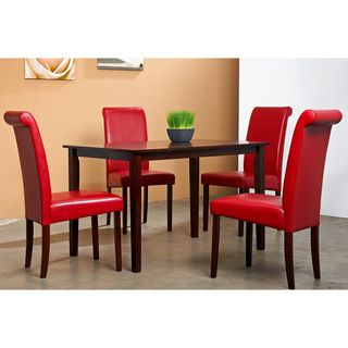 Warehouse of Tiffany 5-piece Red Dining Furniture Set | Dining ...