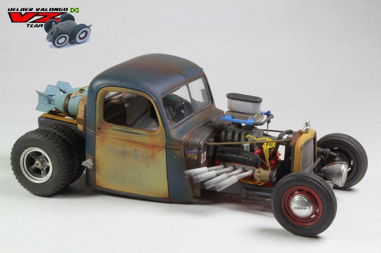 Pickup 41 chevy pickup : Pickup Chevy 41 Rat Rod - MADE IN BRAZIL - Under Glass: Pickups ...
