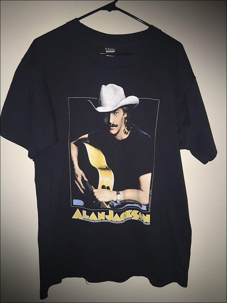 82577b4b Vintage 90's Alan Jackson Don't Rock the Jukebox Tour Shirt - Size XL by  JourneymanVintage on Etsy
