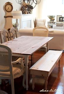 dear lillie dining room bench tutorial building projects dining rh pinterest com