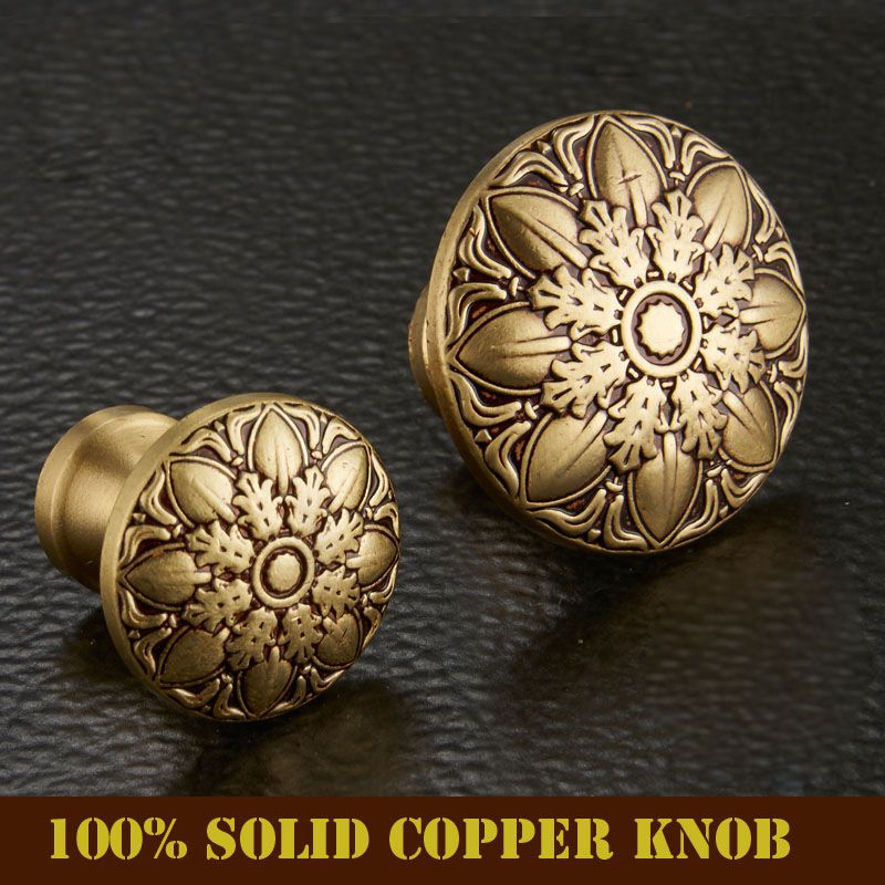 High Quality 100% Solid Copper European Classic Bronze Drawer ...