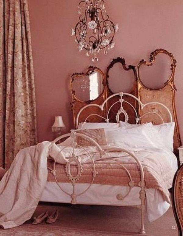 altrosa wandfarbe für die vintage wandgestaltung mit prächtigem, Hause ideen