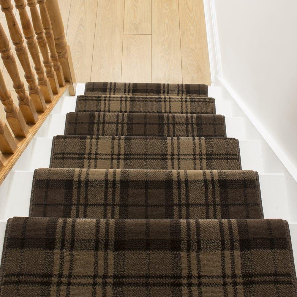 Best Tartan Brown Stair Runner Carpet Stairs Carpet Runner 400 x 300