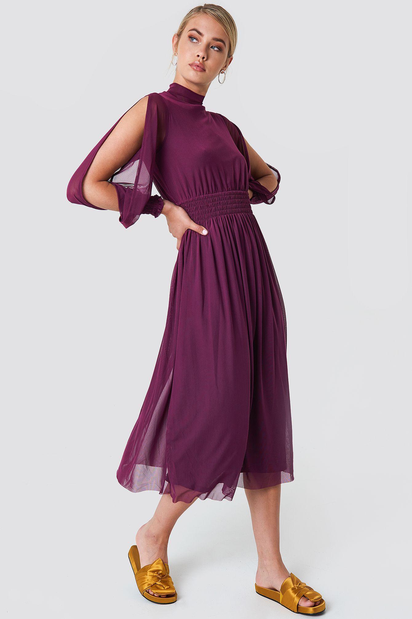 Mesh Open Sleeve Dress in 2020 | Kleid mit ärmel, Modestil ...