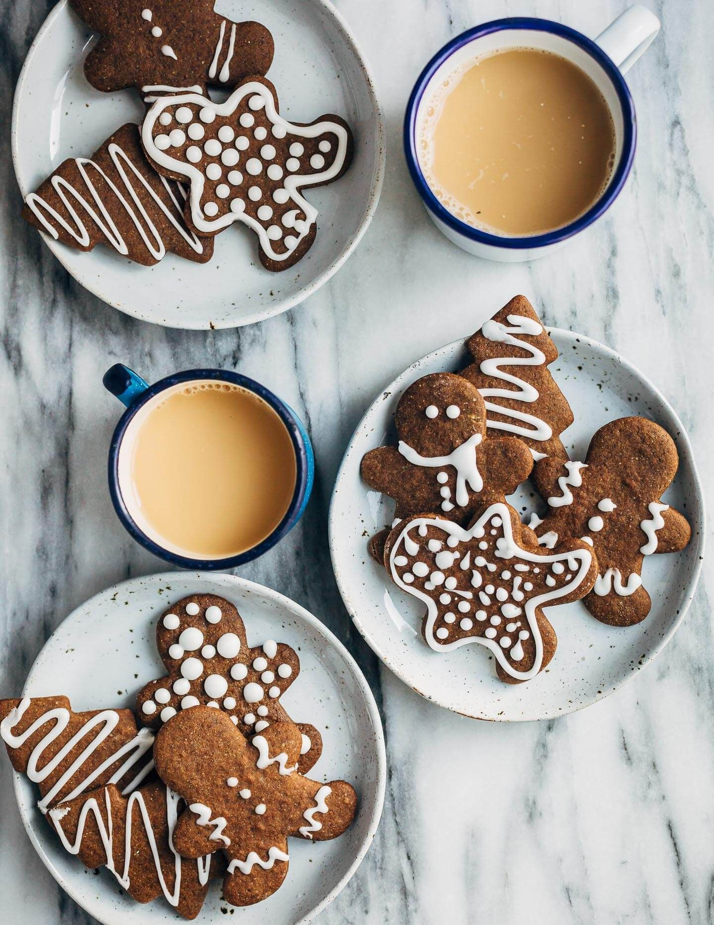 Spicy Gingerbread Cookies With Lemon Icing