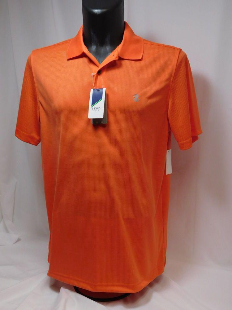 Izod polyester large orange golf shirt moisture wicking for Moisture wicking golf shirts