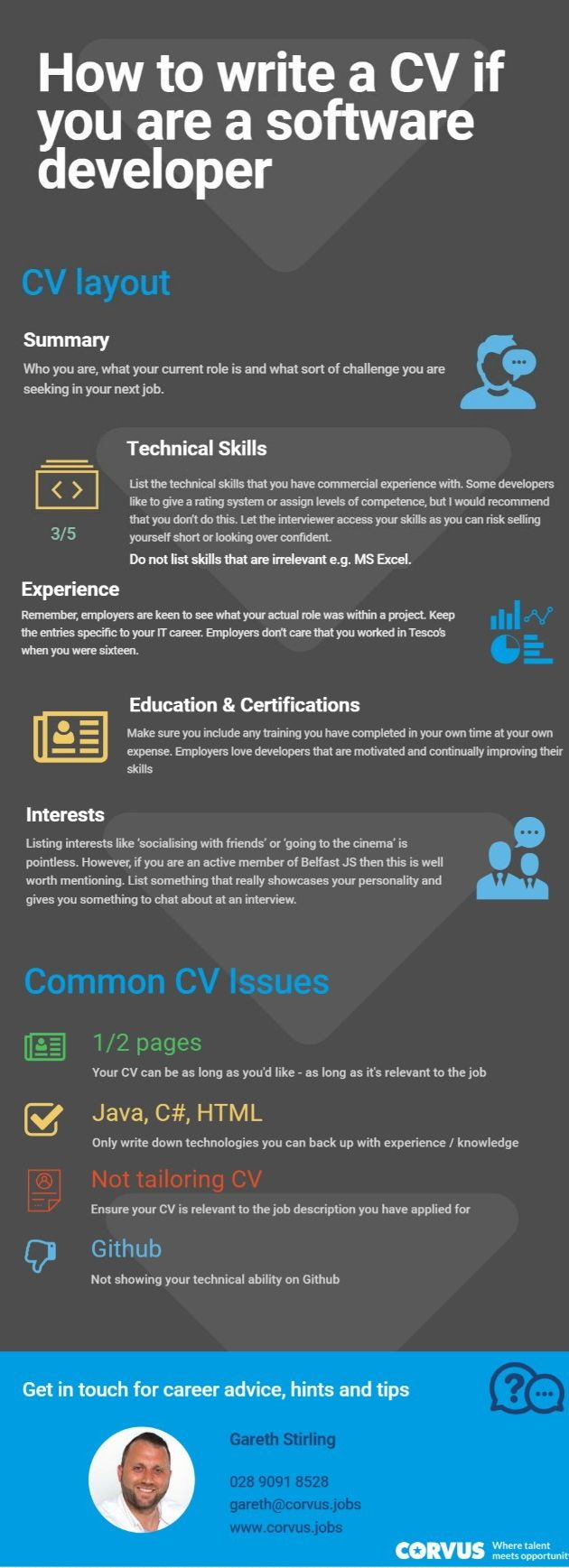 How to write a CV if you are a Software developer  Learn how
