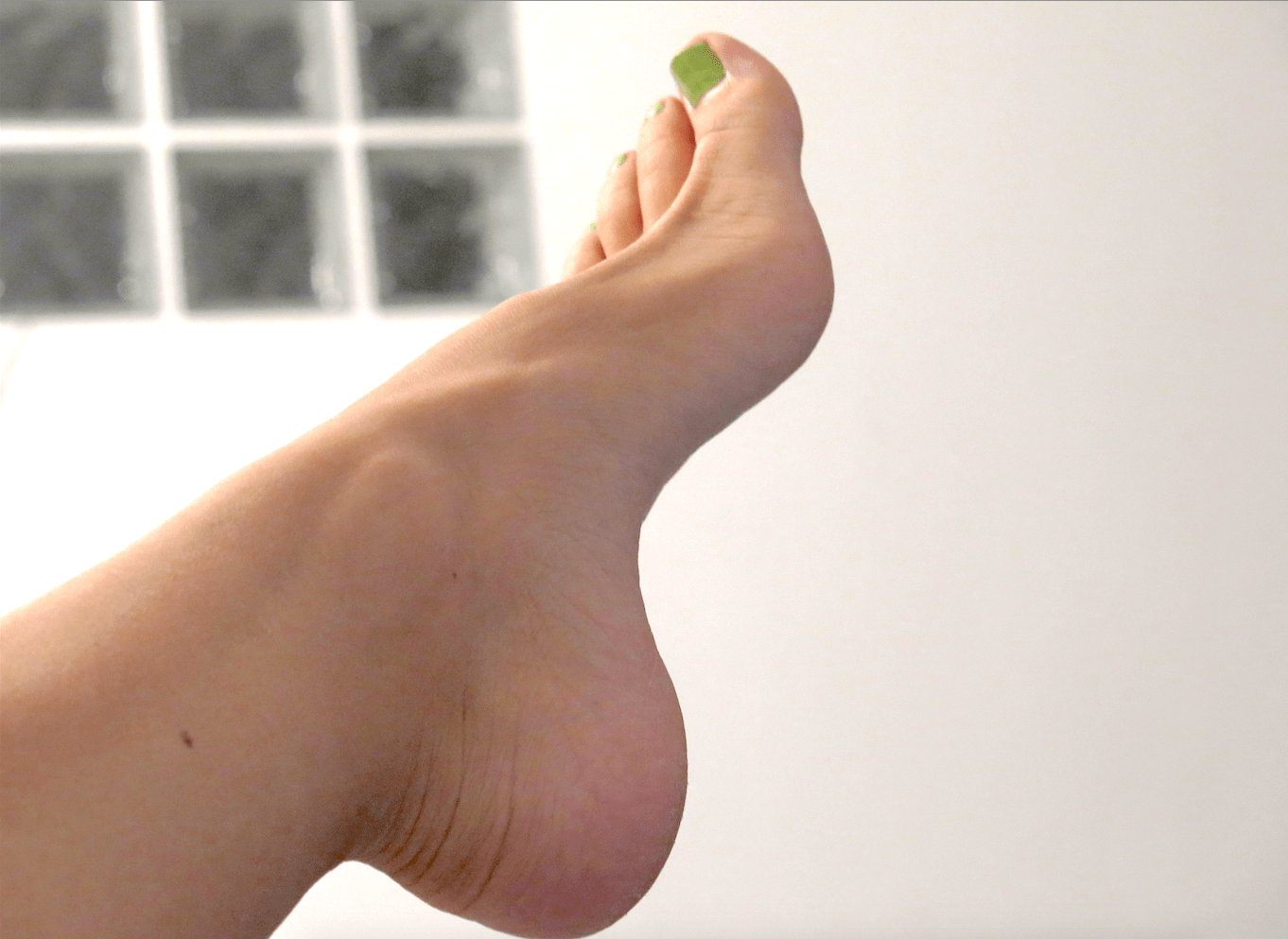 barefeet #nailpolish #green beautiful #foot #profile | myself