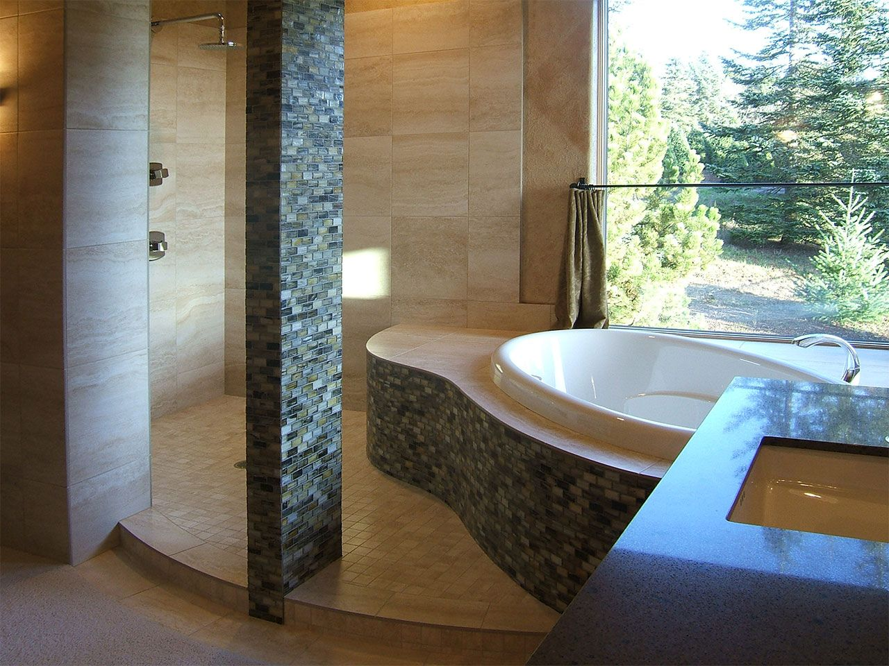 Kaufman Homes | Bathroom: Contemporary Master bath with jacuzzi tub ...