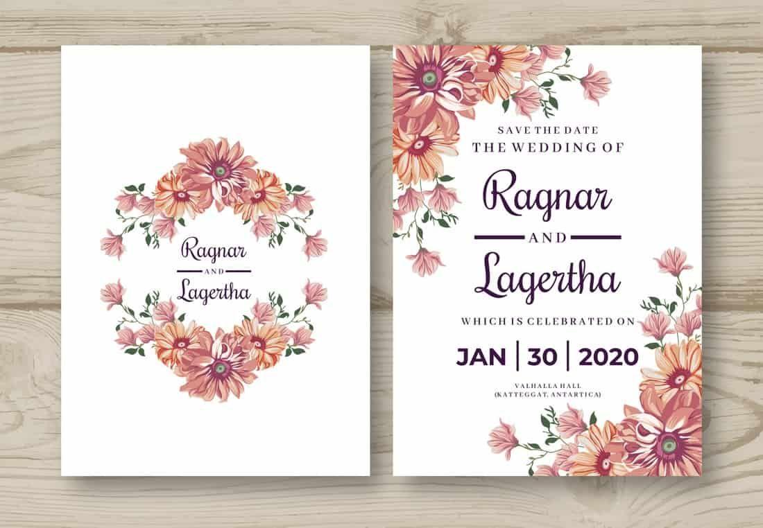 20 Best Free Invitation Templates Wedding Invitation
