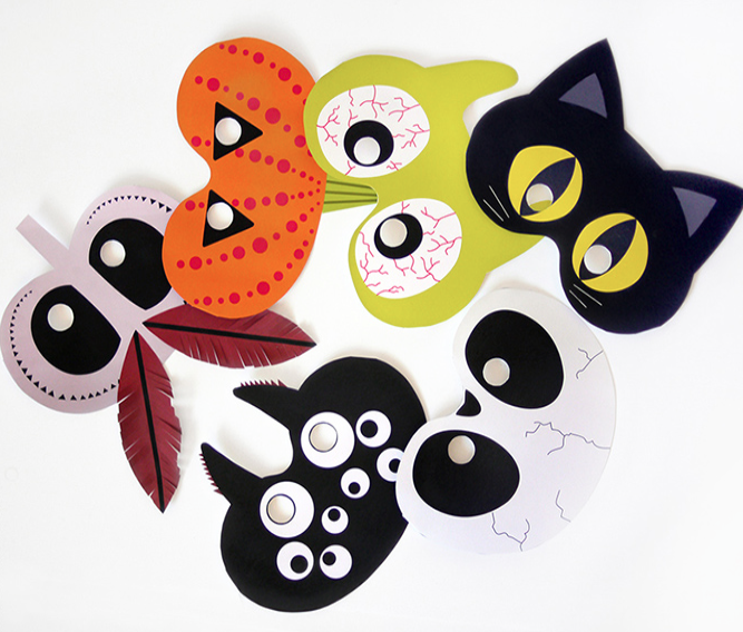 maski na Halloween do wydrukowania Halloween, Do