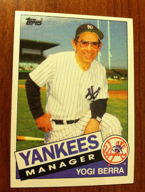 1985 Yogi Berra New York Yankees Trading Card Yankees