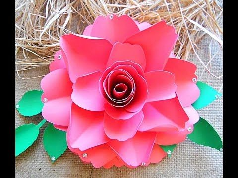 How To Make Paper Roses Easy Step By Step Tutorial Paper Flower
