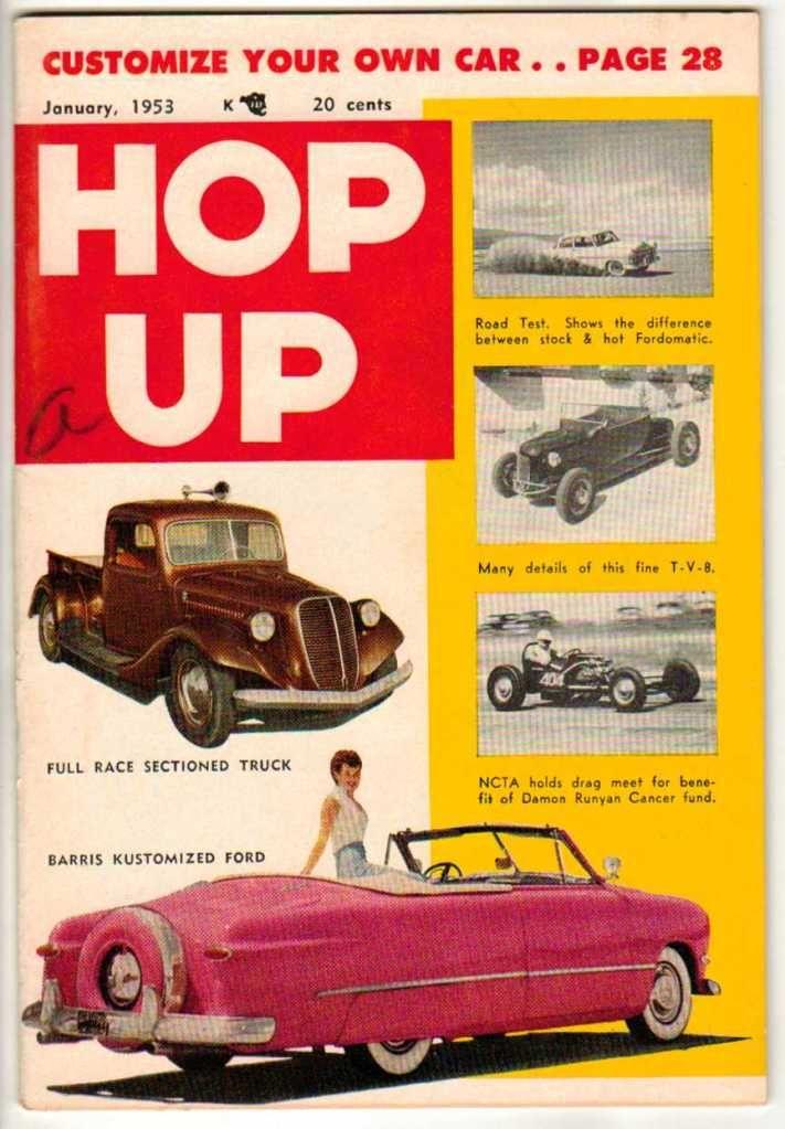 Hop Up January 1953 Vintage Car Magazine Classic Custom Ford Hot Rod ...