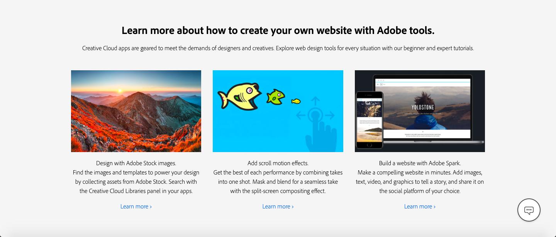 Adobe Website Builder In 2020 Web Design Tools Builder Website Web Design Projects