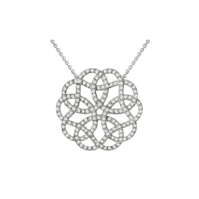 Frederic's Gallery 18 Karat White Gold Diamond Pendant