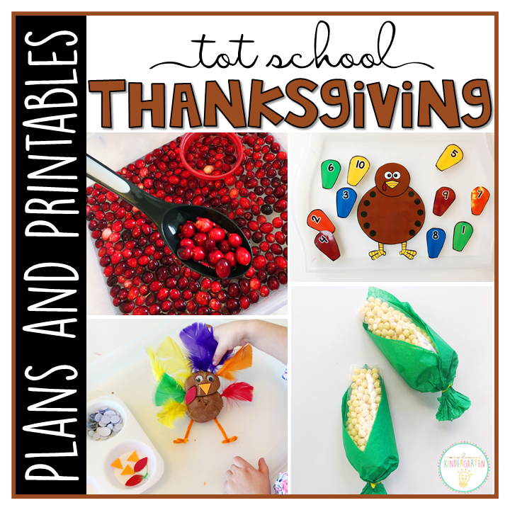 Tot School  Thanksgiving  Plans And Printables