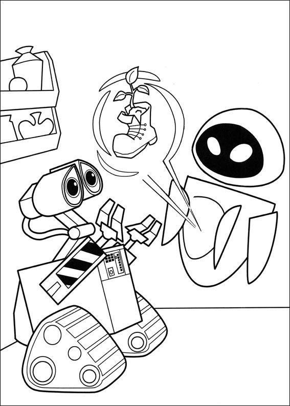 Dibujos para Colorear Wall-E 35   Dibujos para colorear para niños ...