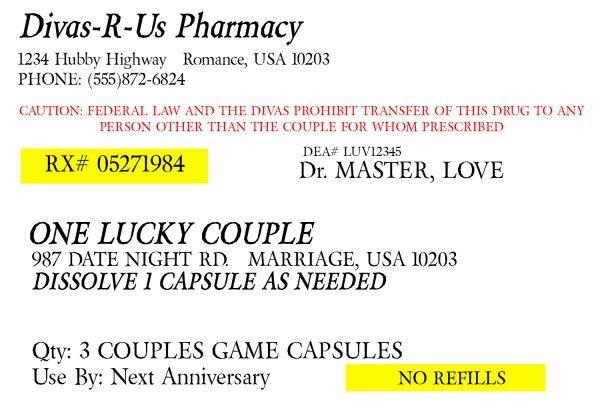 prescription for fun a free printable romance idea pinterest