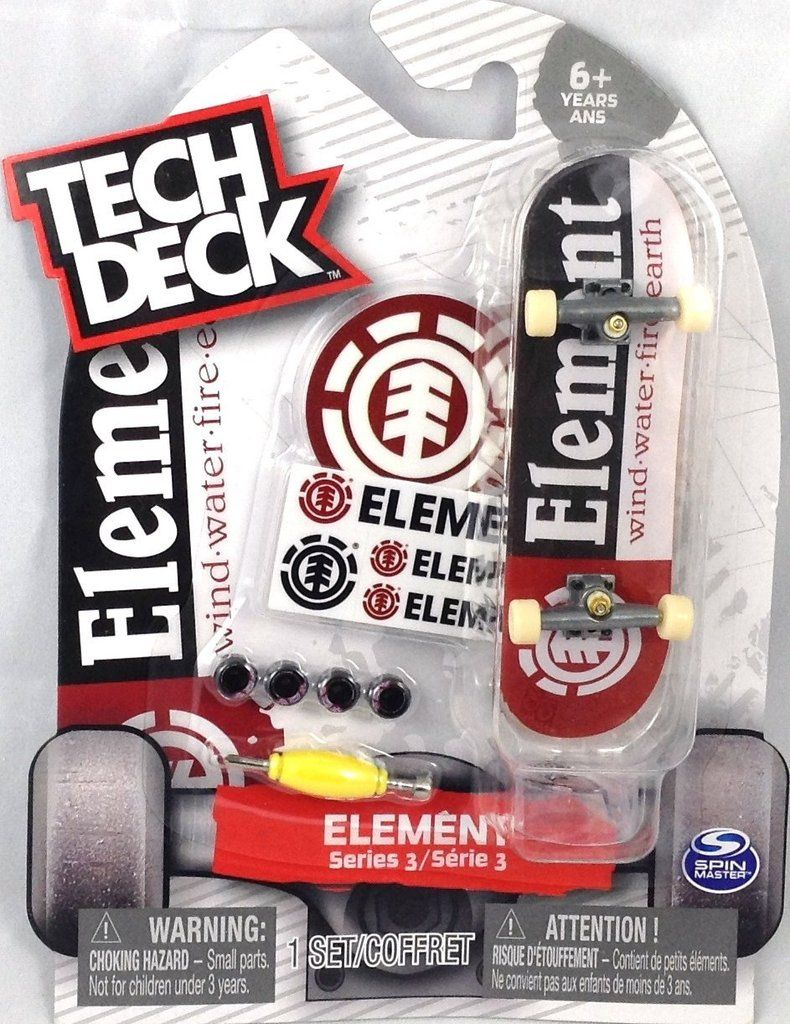 Tech Deck Element Series 3 Wind Water Fire Earth (With