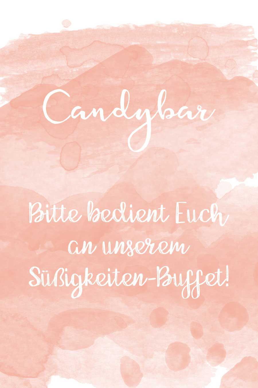candybar schild f r euer s igkeiten buffet findet bei. Black Bedroom Furniture Sets. Home Design Ideas