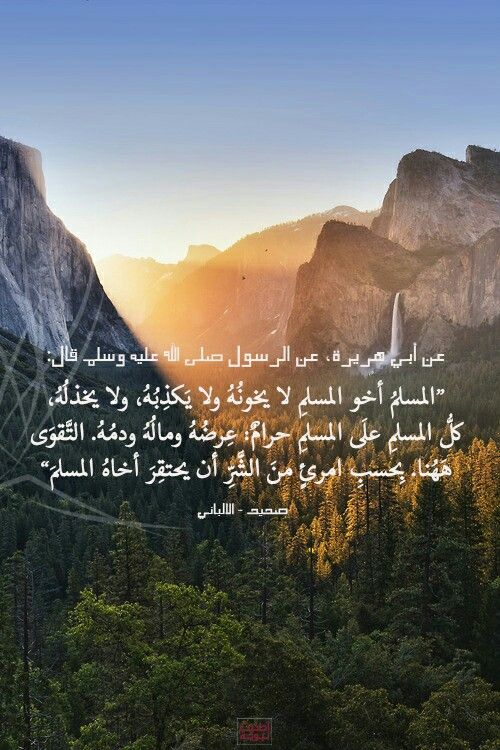 لايخونه ولايكذبه ولا يخذله ولا يحقره Islamic Phrases Quran Verses Positive Quotes Images