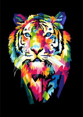 The Tiger Pop Art Poster Print | metal posters – Displate